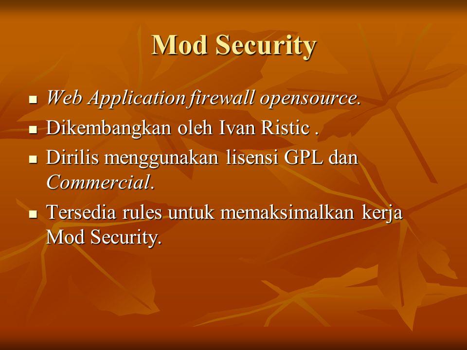 Mod Security Web Application firewall opensource.