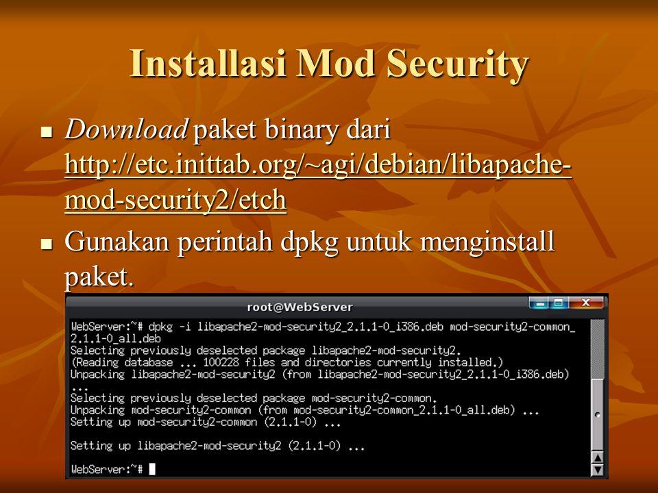 Installasi Mod Security