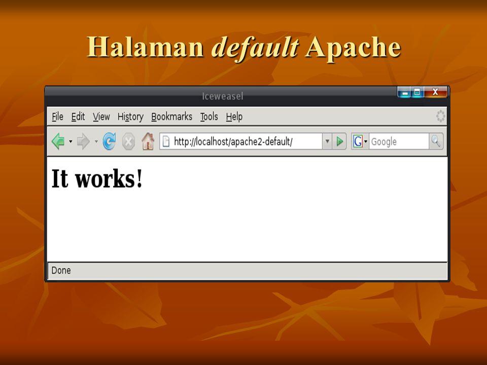 Halaman default Apache