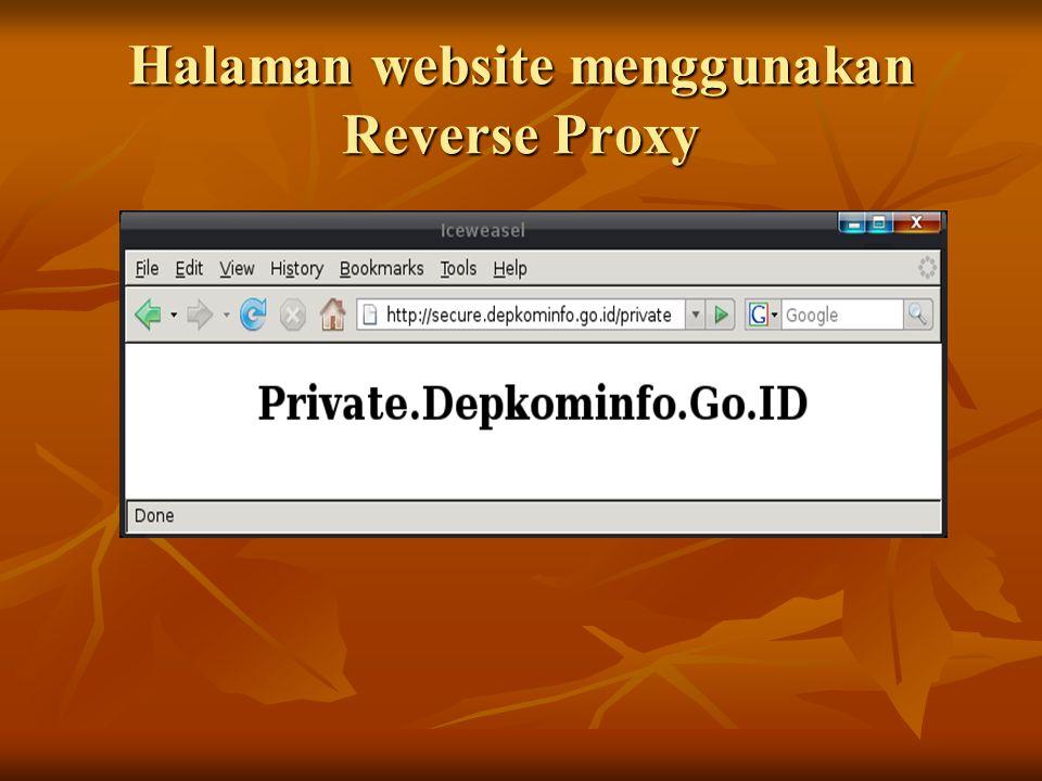Halaman website menggunakan Reverse Proxy