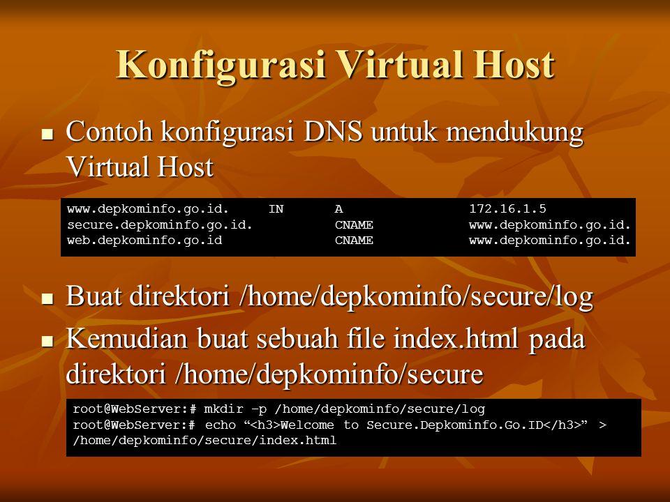 Konfigurasi Virtual Host