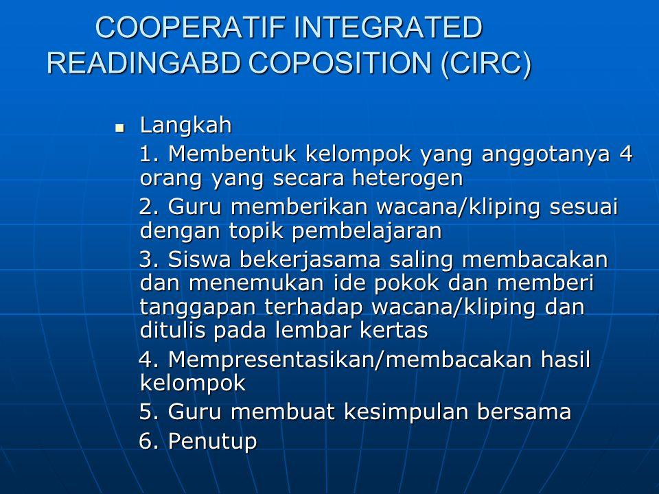 COOPERATIF INTEGRATED READINGABD COPOSITION (CIRC)