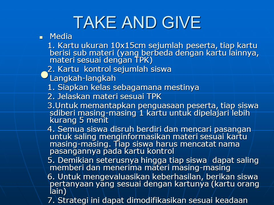 TAKE AND GIVE Media.