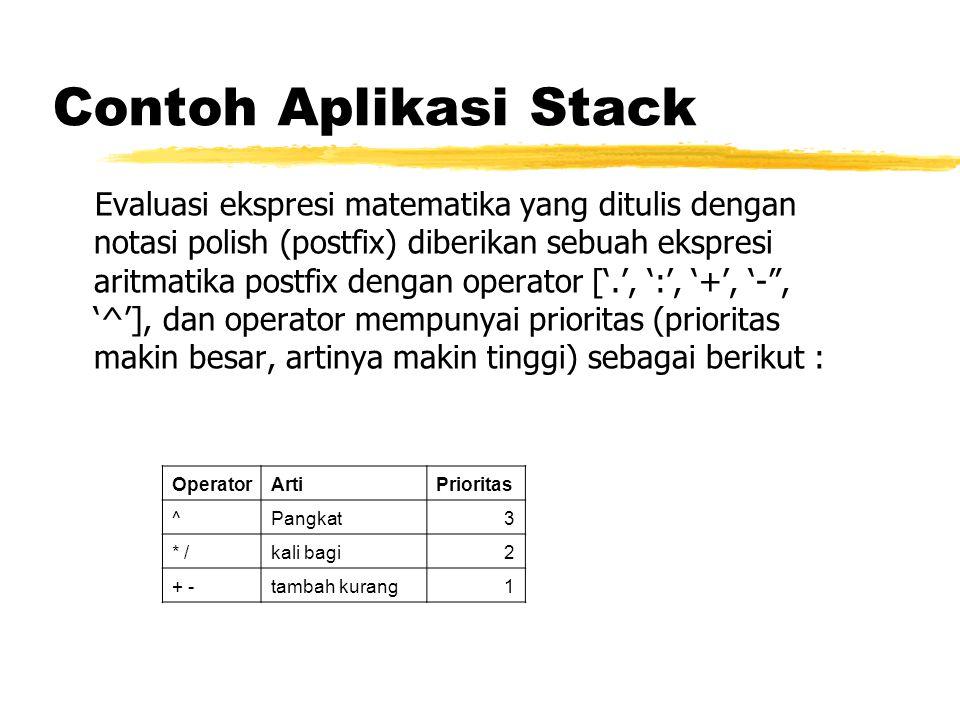Contoh Aplikasi Stack