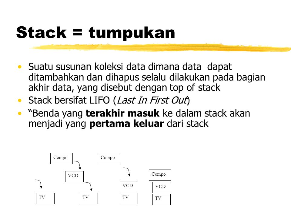 Stack = tumpukan