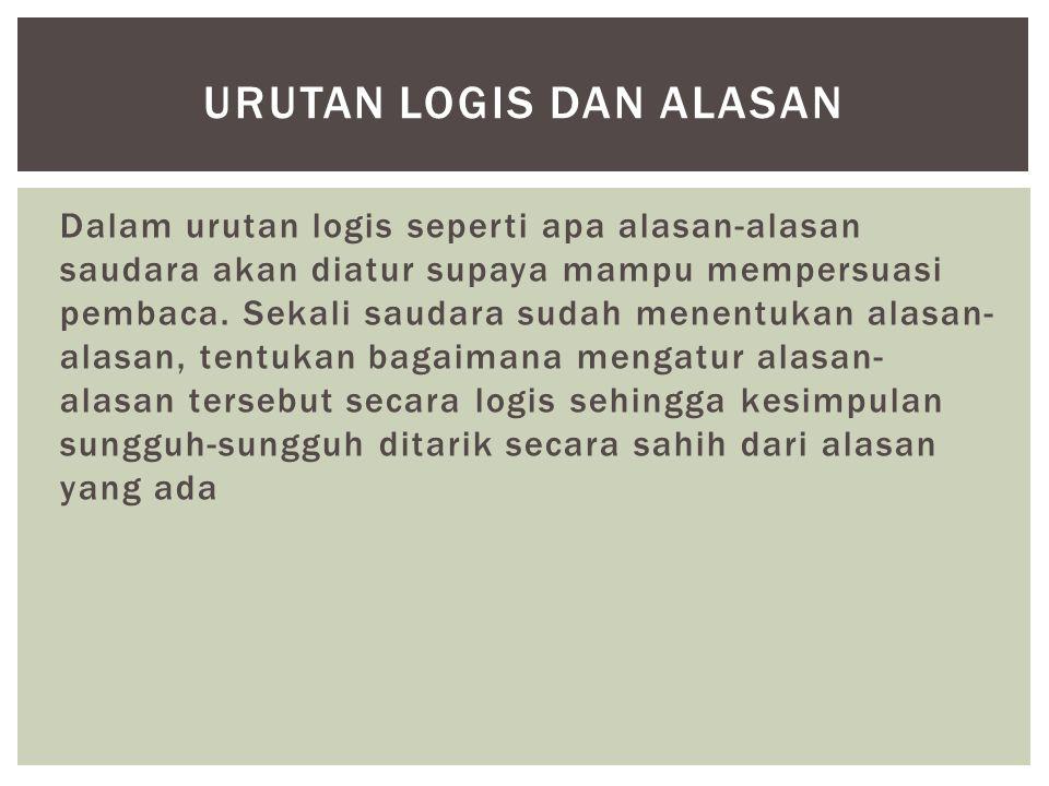 Urutan logis dan alasan