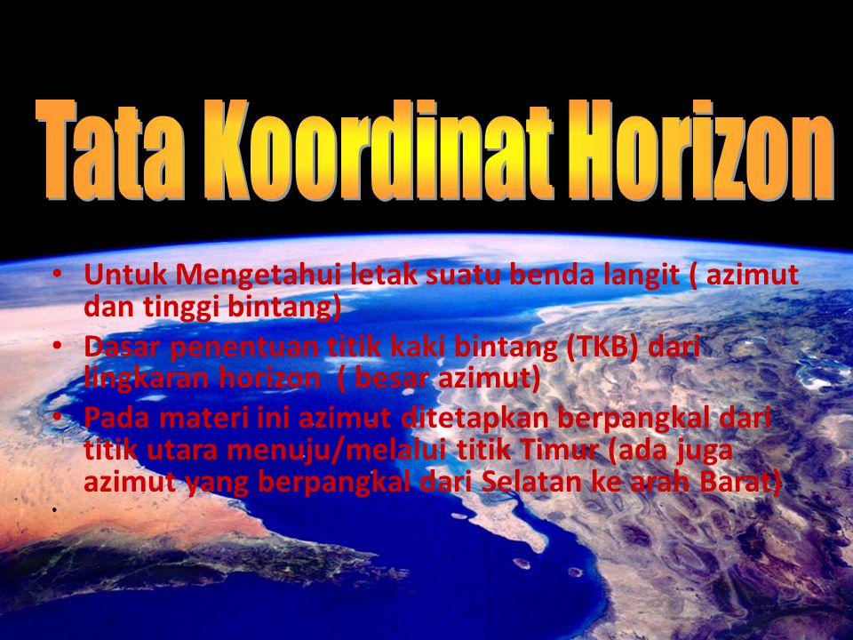 Tata Koordinat Horizon