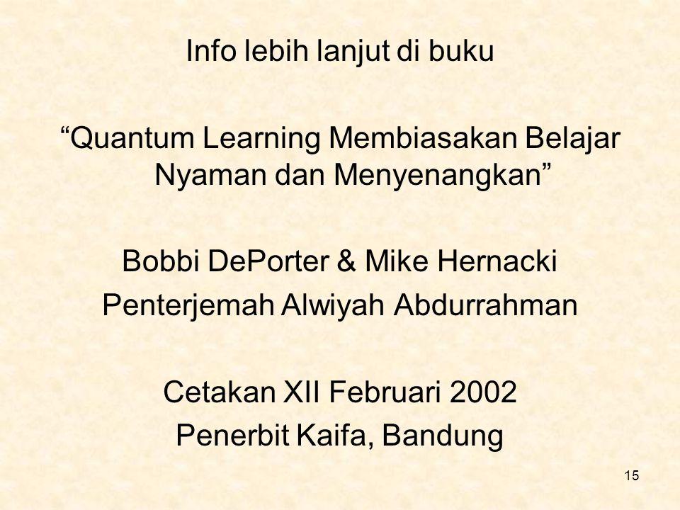 Info lebih lanjut di buku