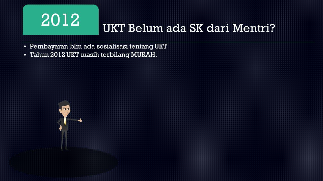 2012 UKT Belum ada SK dari Mentri