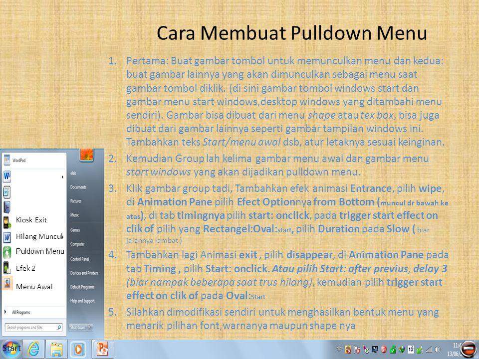 Cara Membuat Pulldown Menu