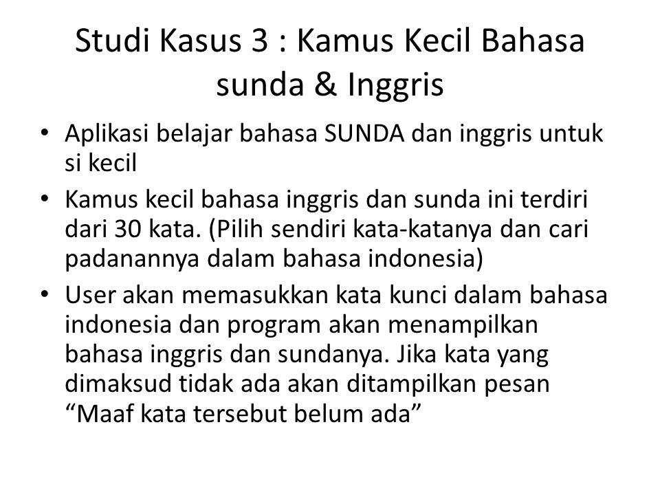 Studi Kasus 3 : Kamus Kecil Bahasa sunda & Inggris
