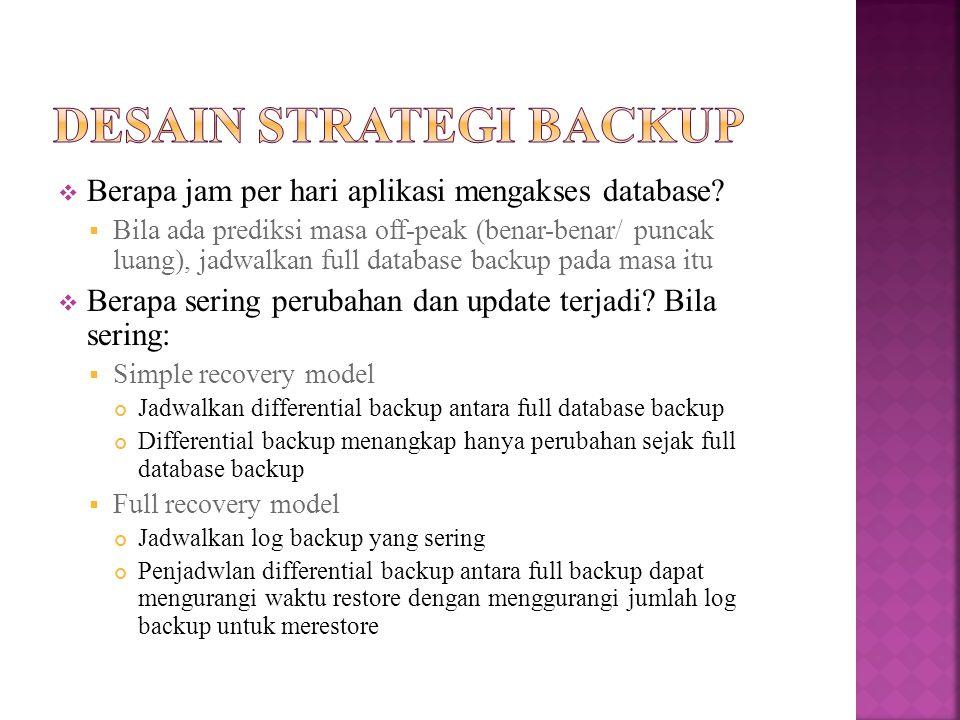 Desain strategi backup
