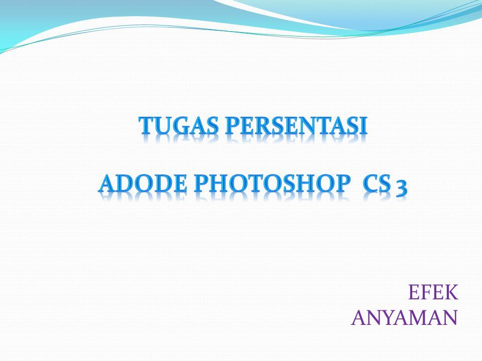 TUGAS PERSENTASI ADODE PHOTOSHOP CS 3