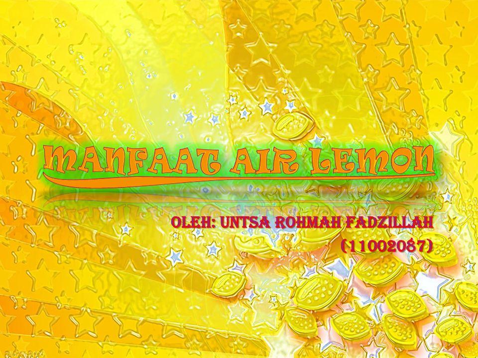 oleh: Untsa Rohmah Fadzillah (11002087)