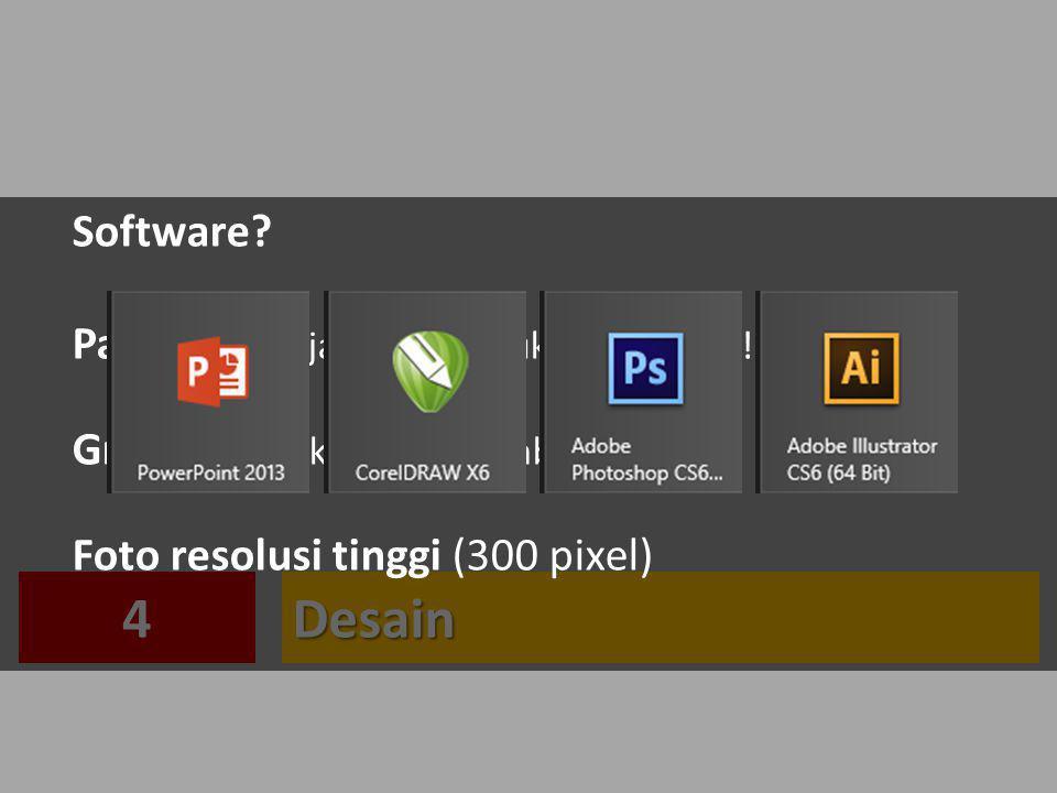 4 Desain Software Page setup: jangan lupa ukuran poster!
