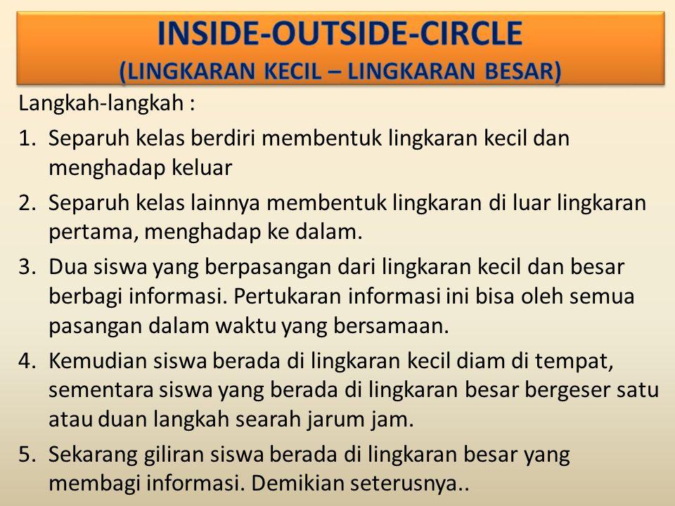 INSIDE-OUTSIDE-CIRCLE (LINGKARAN KECIL – LINGKARAN BESAR)