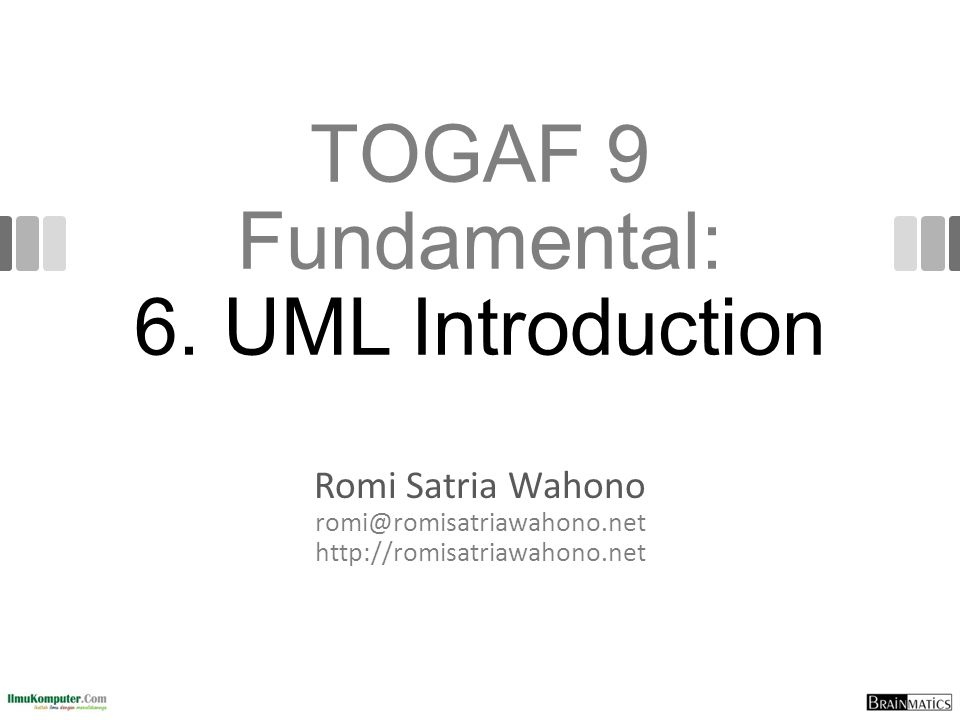 TOGAF 9 Fundamental: 6. UML Introduction