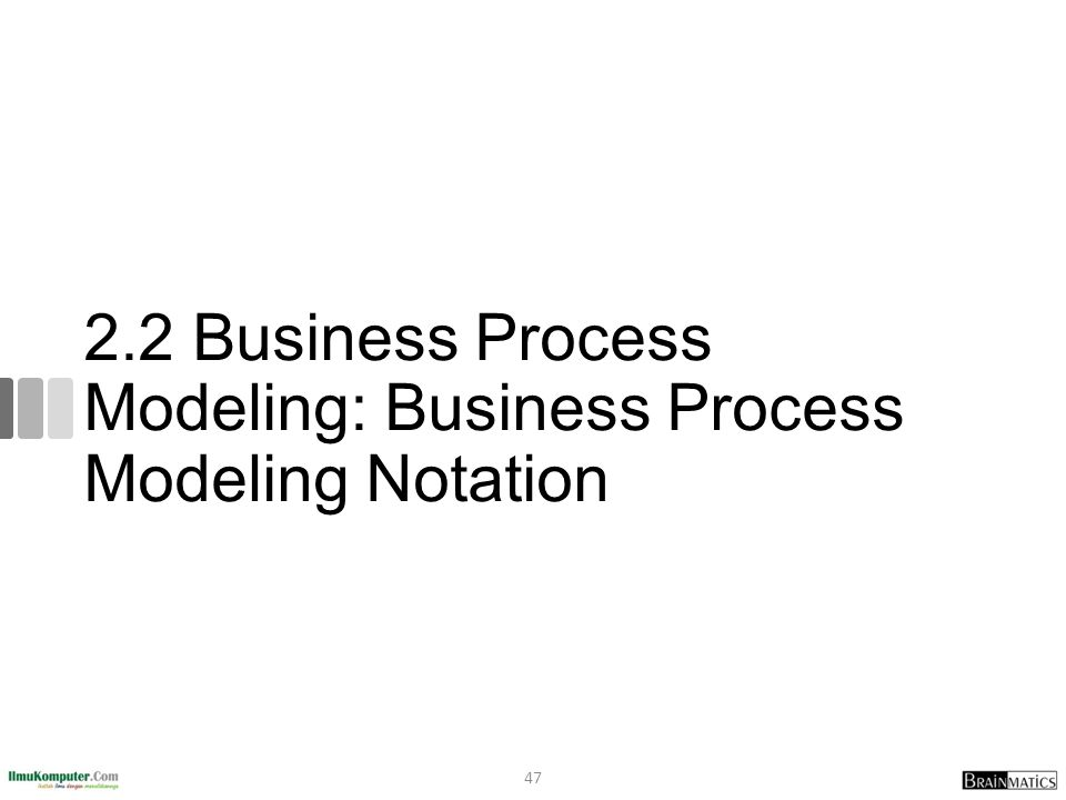 2.2 Business Process Modeling: Business Process Modeling Notation