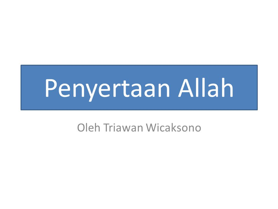 Oleh Triawan Wicaksono
