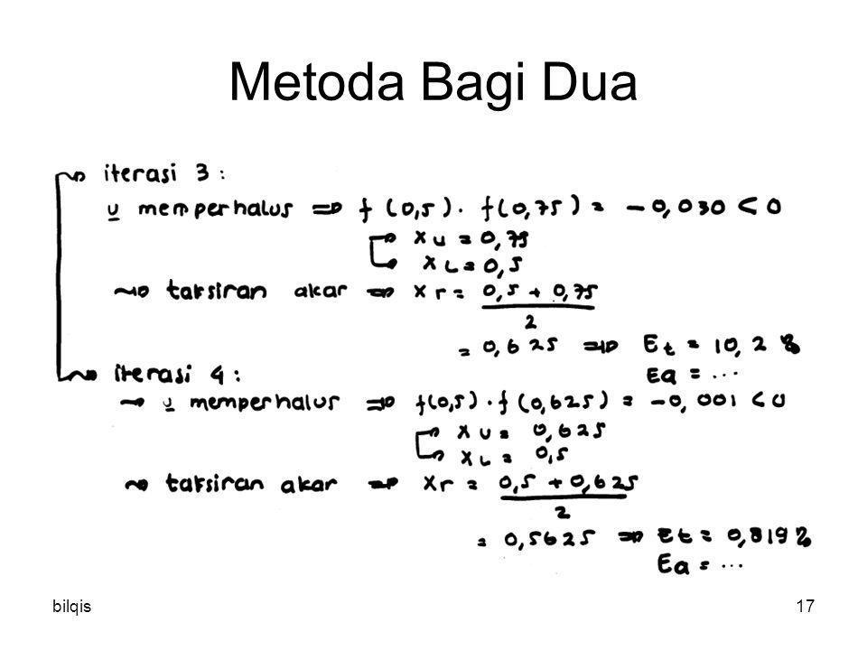 Metoda Bagi Dua bilqis