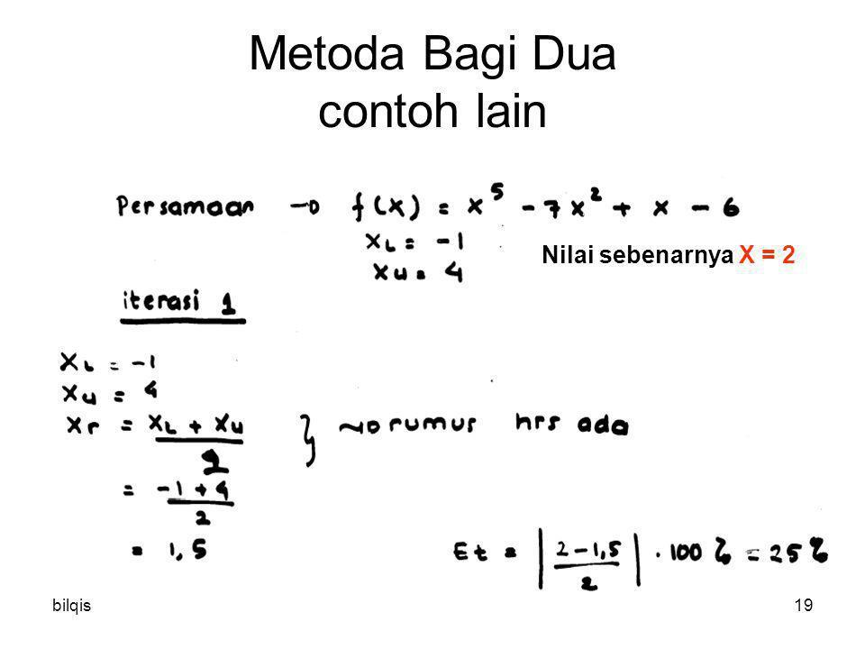 Metoda Bagi Dua contoh lain