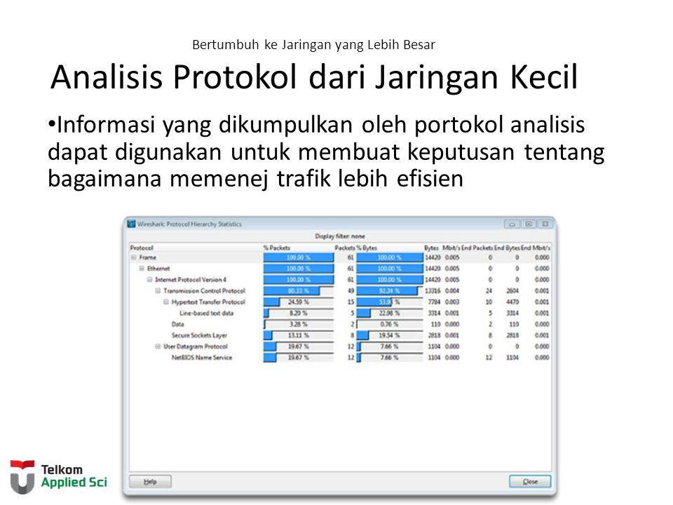 Bertumbuh ke Jaringan yang Lebih Besar Analisis Protokol dari Jaringan Kecil