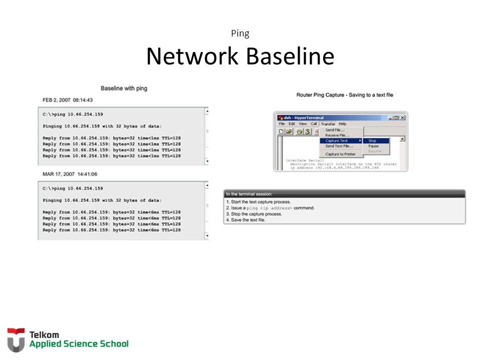 Ping Network Baseline 11.3.1. 3 Network Baseline