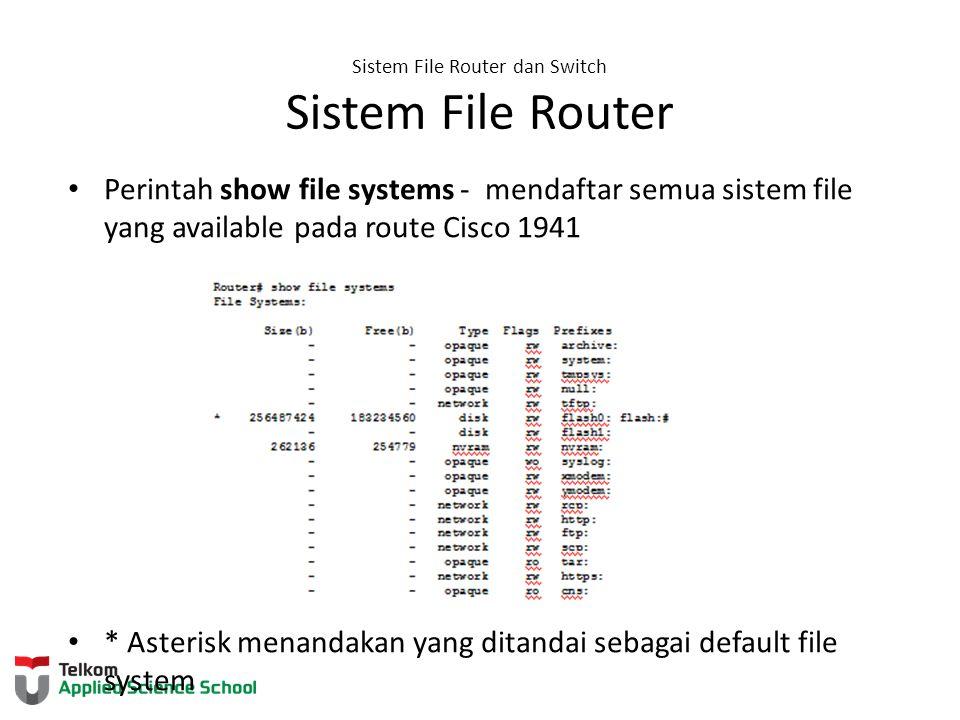 Sistem File Router dan Switch Sistem File Router