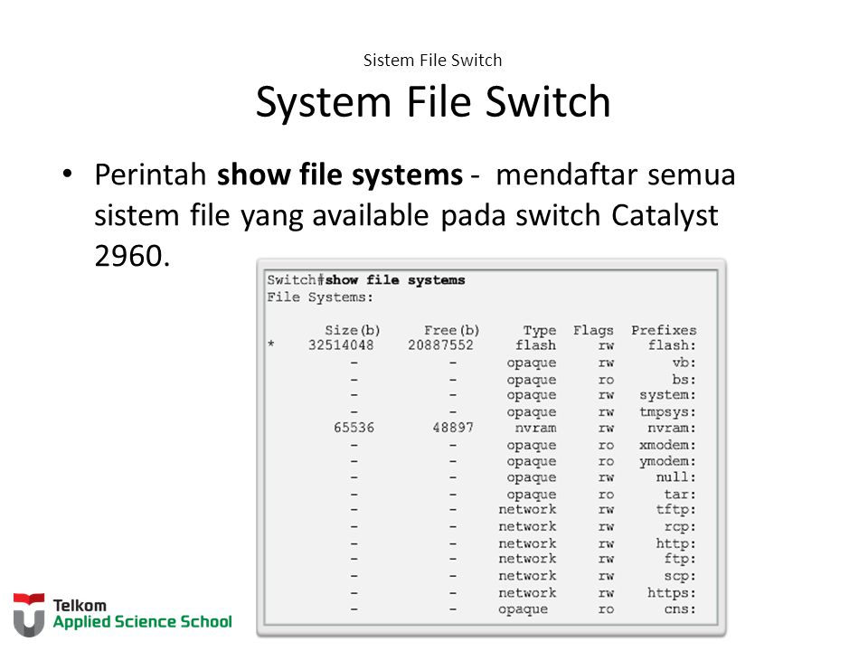 Sistem File Switch System File Switch