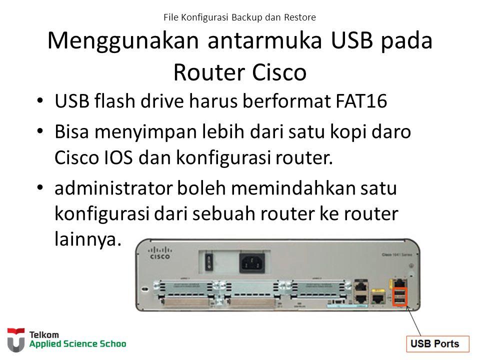 USB flash drive harus berformat FAT16