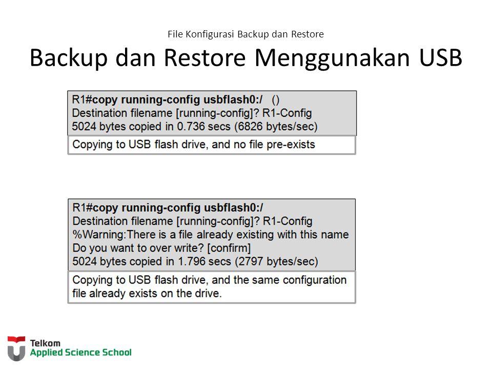 File Konfigurasi Backup dan Restore Backup dan Restore Menggunakan USB