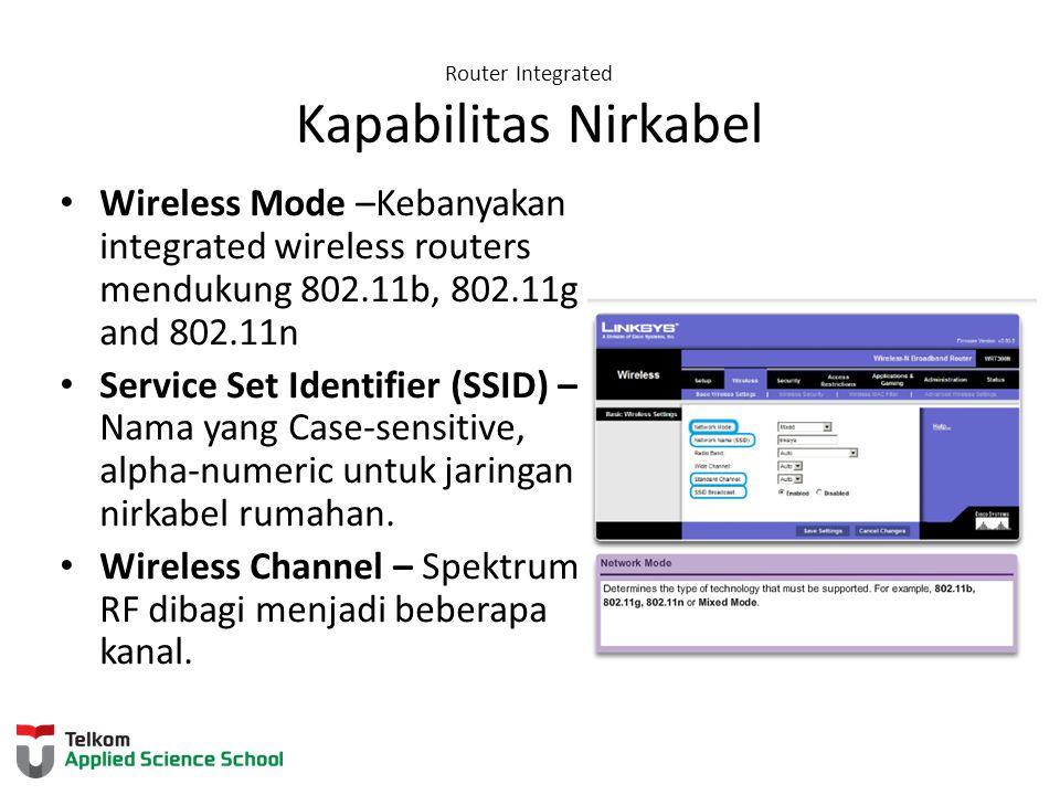 Router Integrated Kapabilitas Nirkabel
