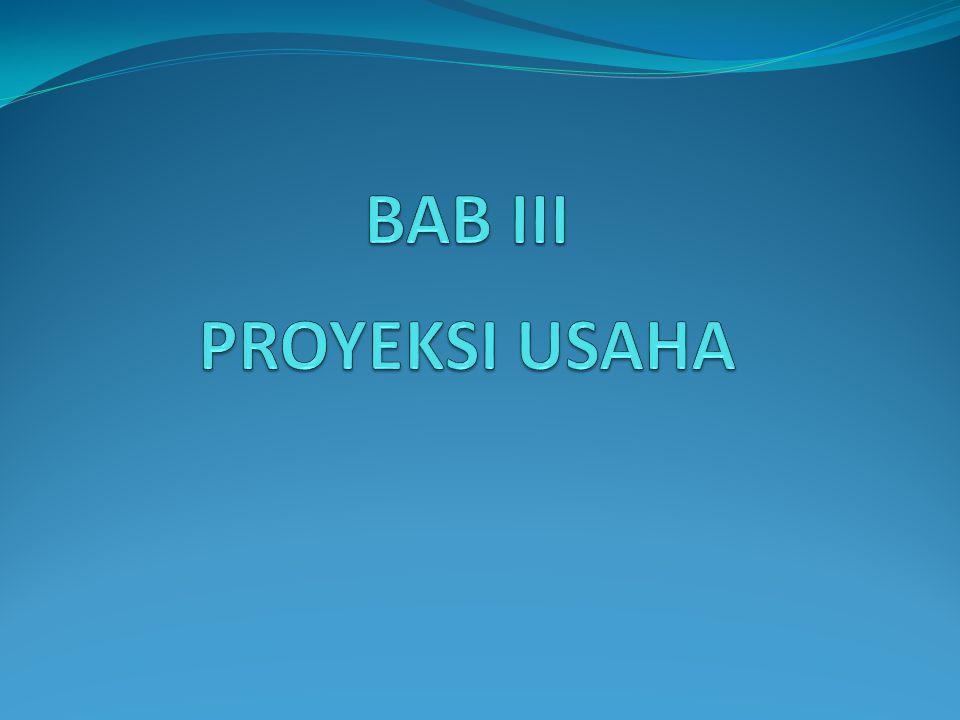 BAB III PROYEKSI USAHA