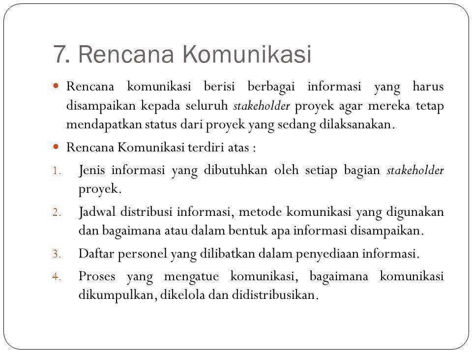 7. Rencana Komunikasi