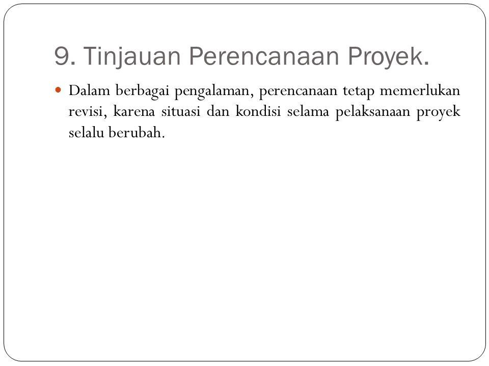 9. Tinjauan Perencanaan Proyek.