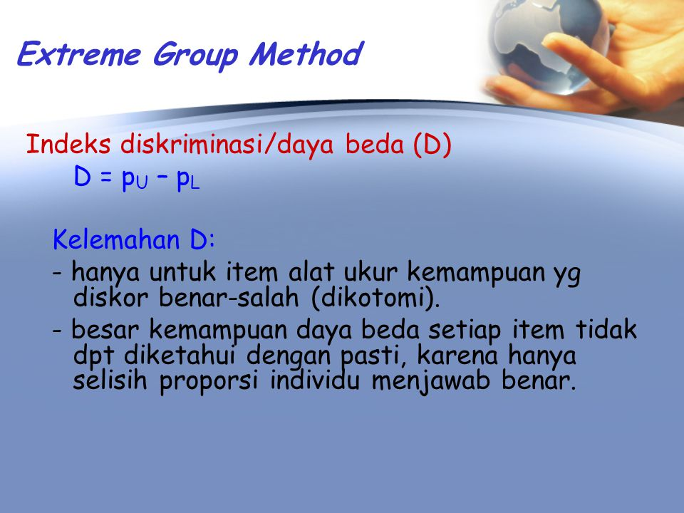Extreme Group Method