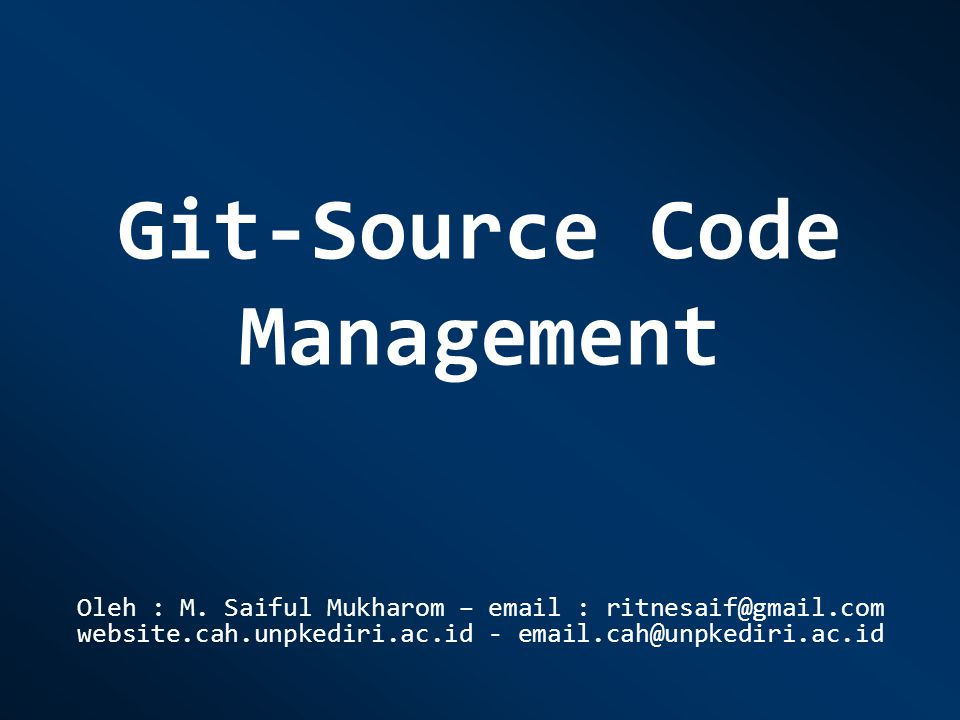 Git-Source Code Management