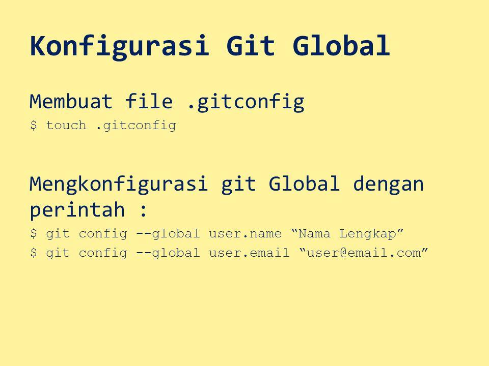 Konfigurasi Git Global