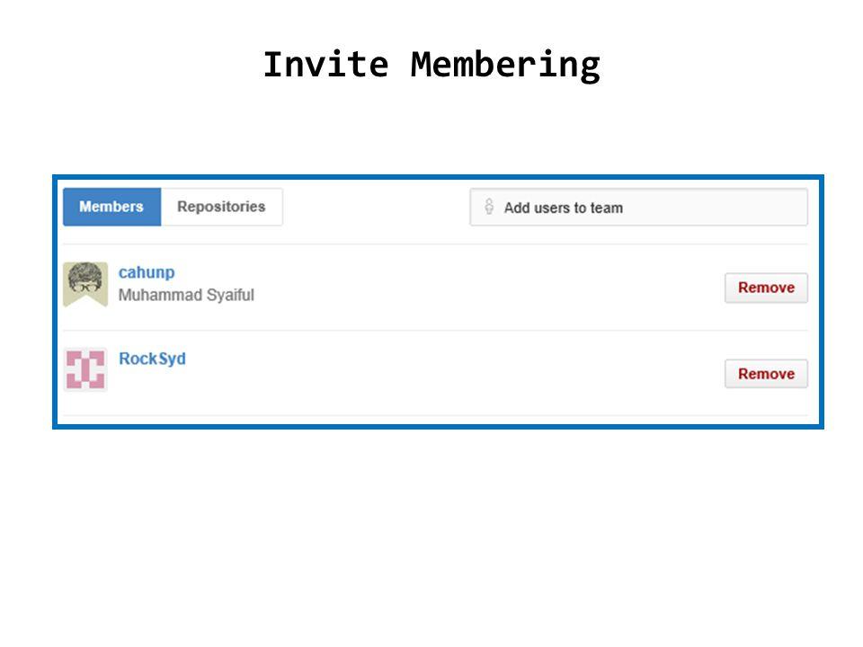 Invite Membering
