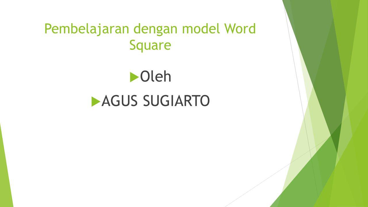 Pembelajaran dengan model Word Square