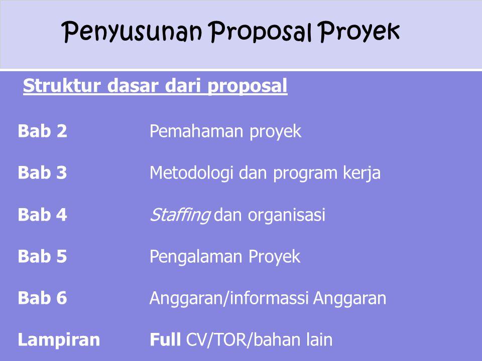 Struktur dasar dari proposal