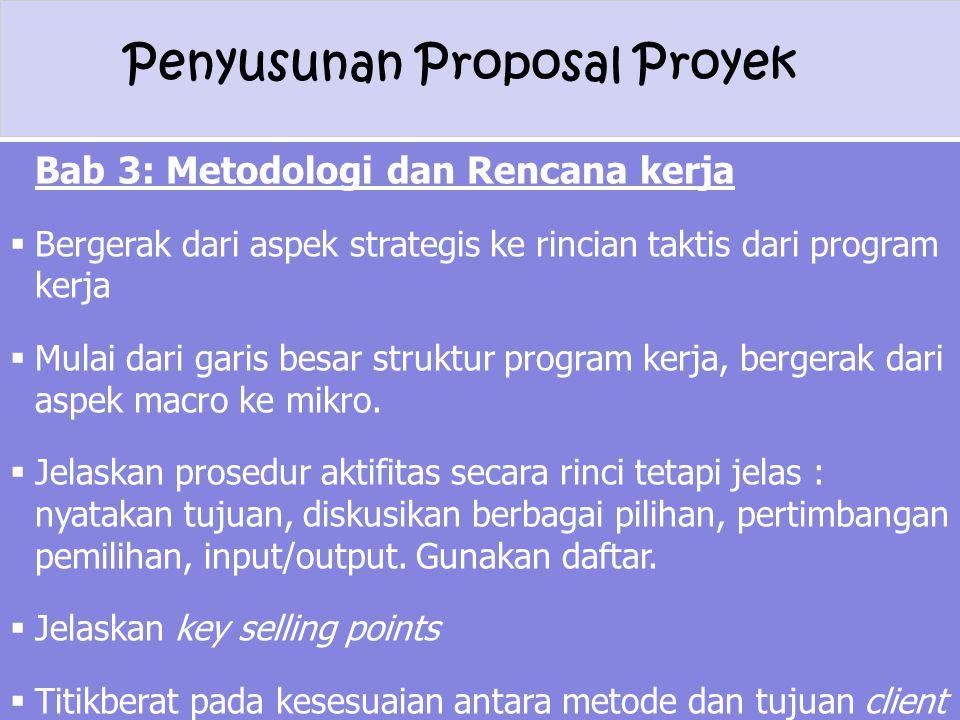 Bab 3: Metodologi dan Rencana kerja