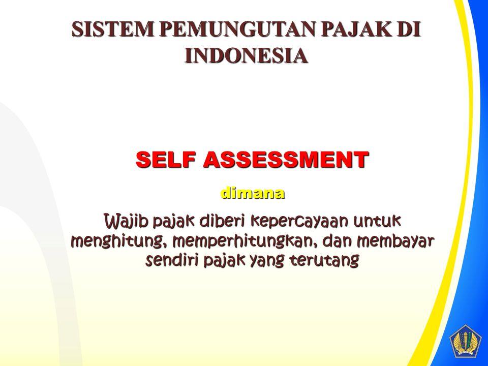 SISTEM PEMUNGUTAN PAJAK DI INDONESIA