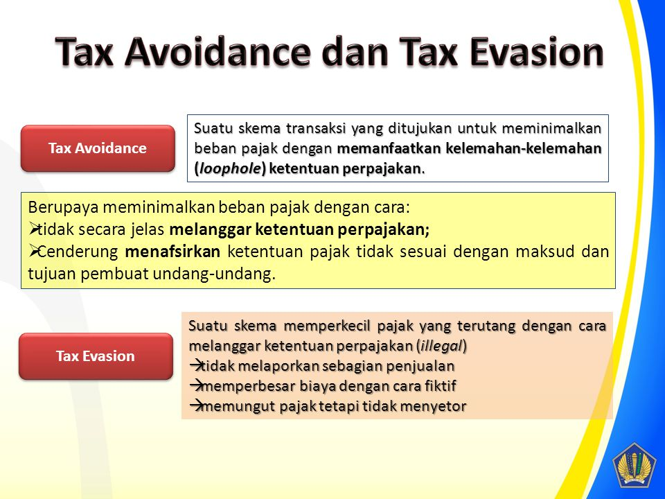 Tax Avoidance dan Tax Evasion