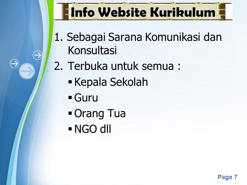 Info Website Kurikulum