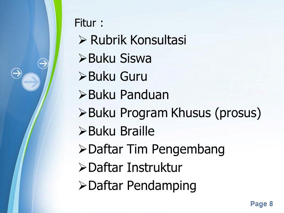 Buku Program Khusus (prosus) Buku Braille Daftar Tim Pengembang