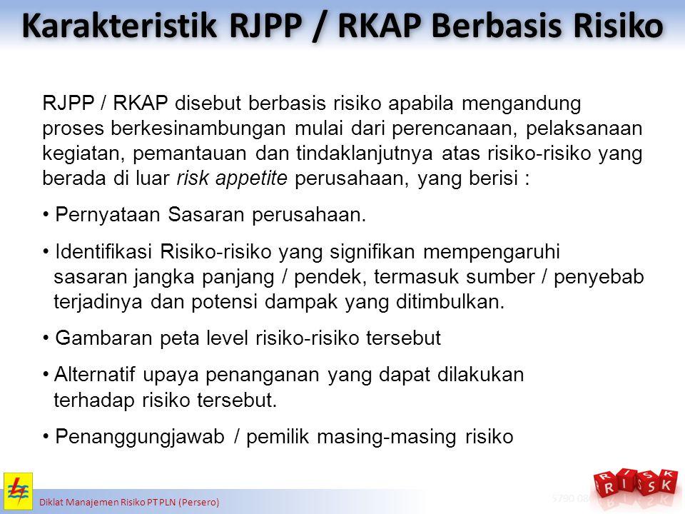 Karakteristik RJPP / RKAP Berbasis Risiko