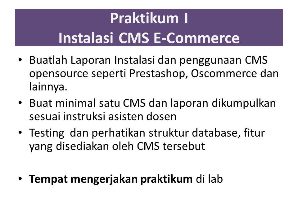Praktikum I Instalasi CMS E-Commerce