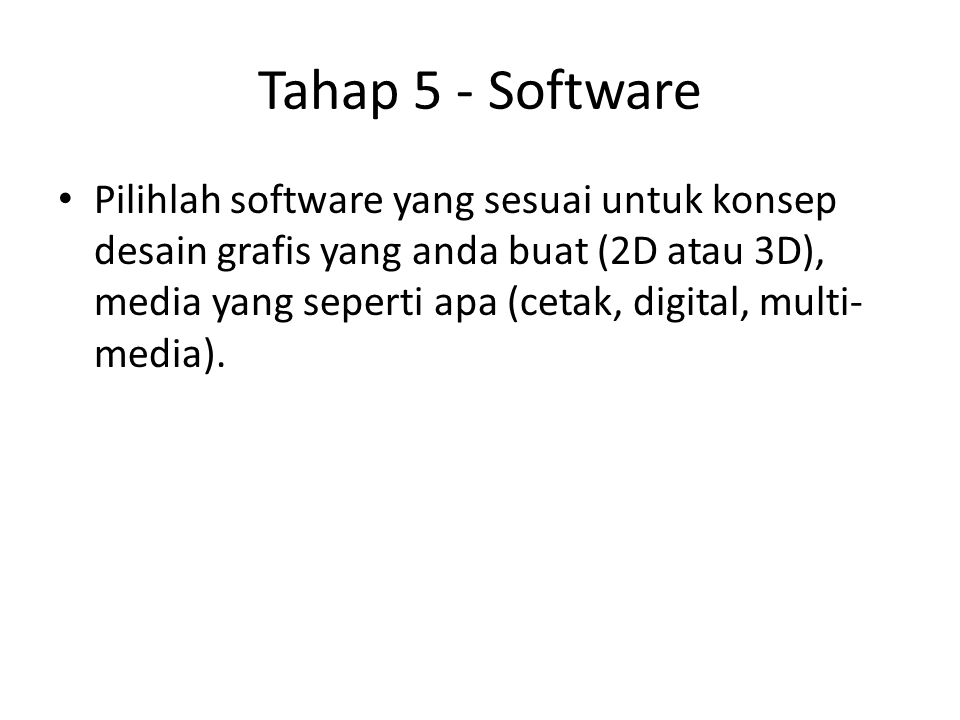 Tahap 5 - Software