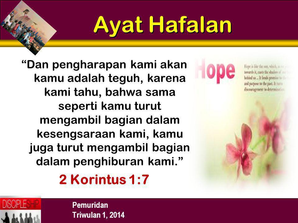 Ayat Hafalan 2 Korintus 1:7